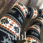 Misses Print Leggings -  Wide Band : Melissa Black