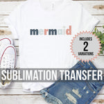 Two Mermaids Sublimation Transfer