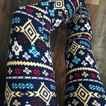 Plus Geometric Leggings: Minnow