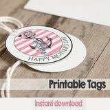 Floral Anchor Mother's Day Printable Tags | VAHL