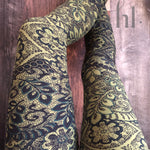 Misses & Plus Leggings : Olive Lace | VAHL