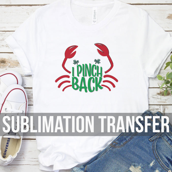 Pinch Back Sublimation Transfer