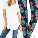 Plus Pineapple Leggings: Pineapple