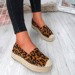 Hemp Wrap Platform Slip On Canvas Shoes