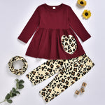 Girls Leopard 3 Piece Outfit