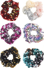 6 Color Sequin Mermaid Scrunchies