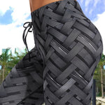 High Waist Iron Weave Workout Leggings
