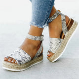 Animal Print Gladiator Wedges