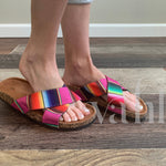 Serape Strappy Sandals