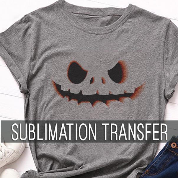 Scary Pumpkin Sublimation Transfer