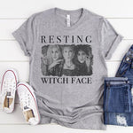 Resting Witch Face - Black and White Graphic Tee : PRE-ORDER