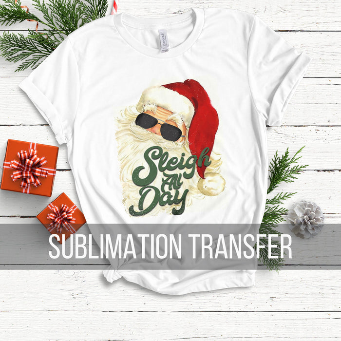 Santa Sleighs Sublimation Transfer