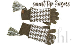Cuffed Houndstooth Gloves - CC Beanie | VAHL