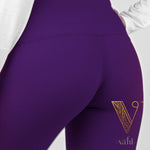 Misses Solid Purple Leggings -  Wide Band | VAHL