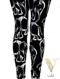 Black & White Elephant Leggings | VAHL