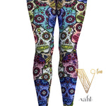 Plus Size Sugar Skull Leggings