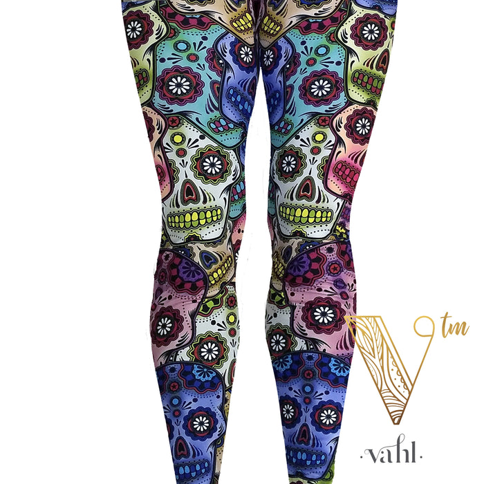 Plus Skull Leggings : Sugar Skulls