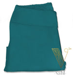 Misses Solid Teal Leggings - Yoga Band