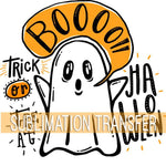 Boo! Trick or Treat Sublimation Transfer