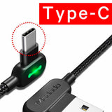 Right Angle Phone Charging Cable