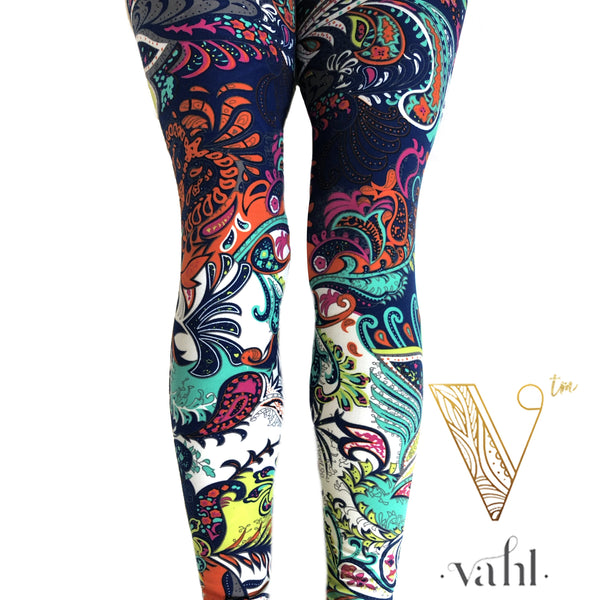 Bright Paisley Leggings Beautiful - Best Seller | VAHL
