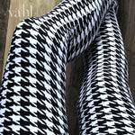 3X4X Houndstooth Leggings : White Houndstooth | VAHL