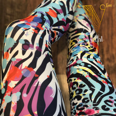 Misses Peach Skin Leggings : Wild Dots | VAHL