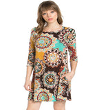 Mandala Tunic Dress : Woodstock