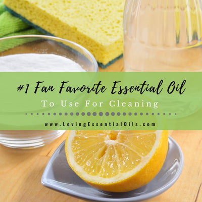 Lemon Essential Oil For Cleaning with Recipes - #1 Fan Favorite