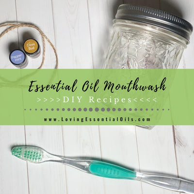 Homemade Tea Tree Oil Mouthwash with Peppermint {DIY Recipes}