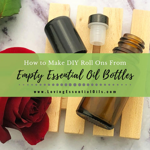 How to Make DIY Roll Ons From Empty Essential Oil Bottles