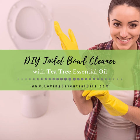 Homemade Toilet Bowl Cleaner Recipe with Tea Tree Essential Oil
