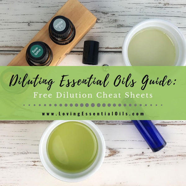 Diluting Essential Oils Guide With Dilution Chart