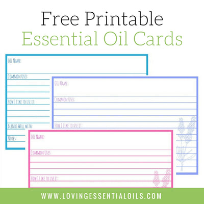Free Essential Oil Printables - Essential Oil Reference Cards
