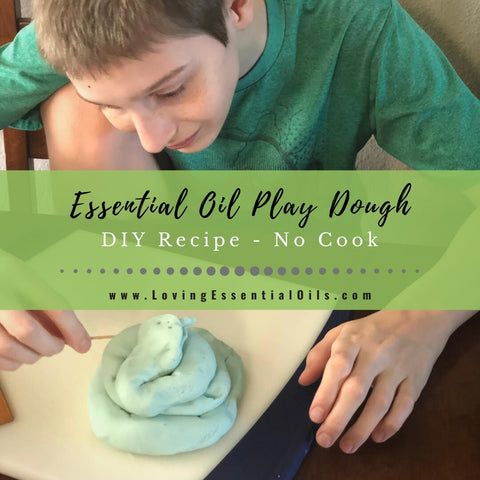 Homemade Essential Oil Play Dough - Easy No Cook Playdough Recipe