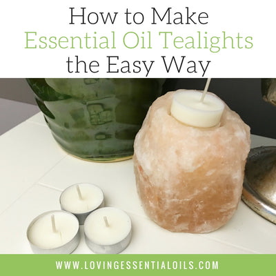 How to Make Essential Oil Tealights the Easy Way