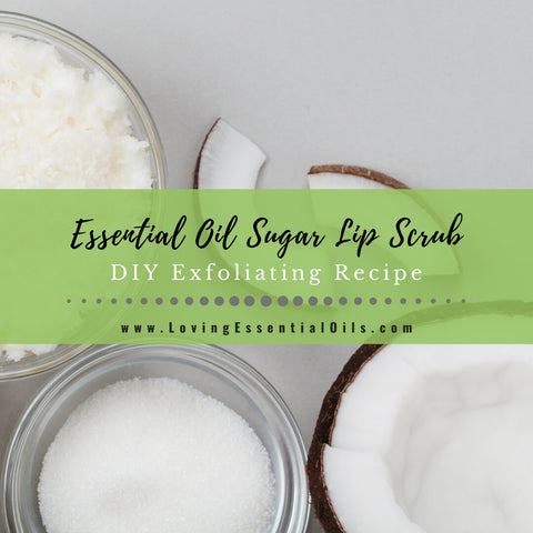 Easy Sugar Lip Scrub Recipe for Kissable Lips {Peppermint Essential Oil}