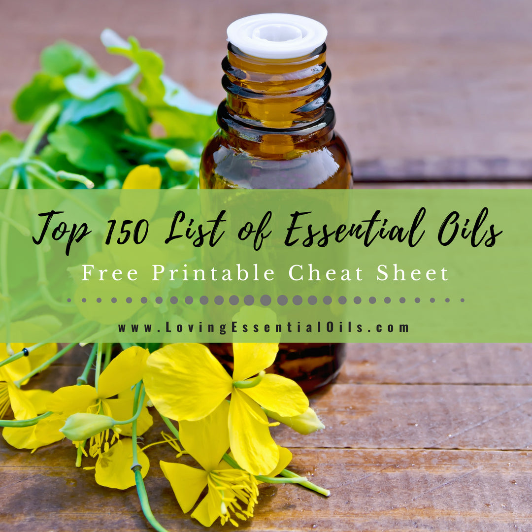 photo regarding Essential Oils Chart Printable called Best 150 Record of Crucial Oils With Free of charge Cheat Sheet