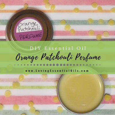DIY Orange Patchouli Solid Perfume with Essential Oils