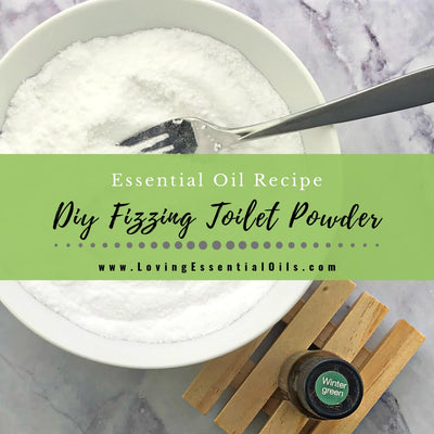 DIY Fizzing Toilet Powder - Essential Oil Toilet Bowl Cleaner Homemade