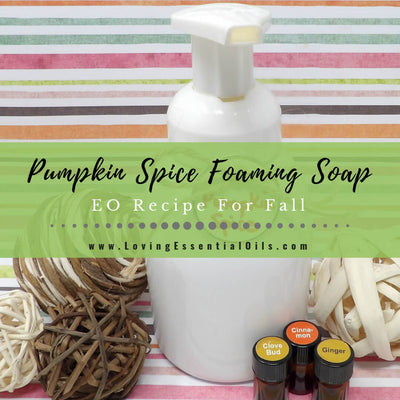 DIY Pumpkin Spice Foaming Soap Recipe For Fall