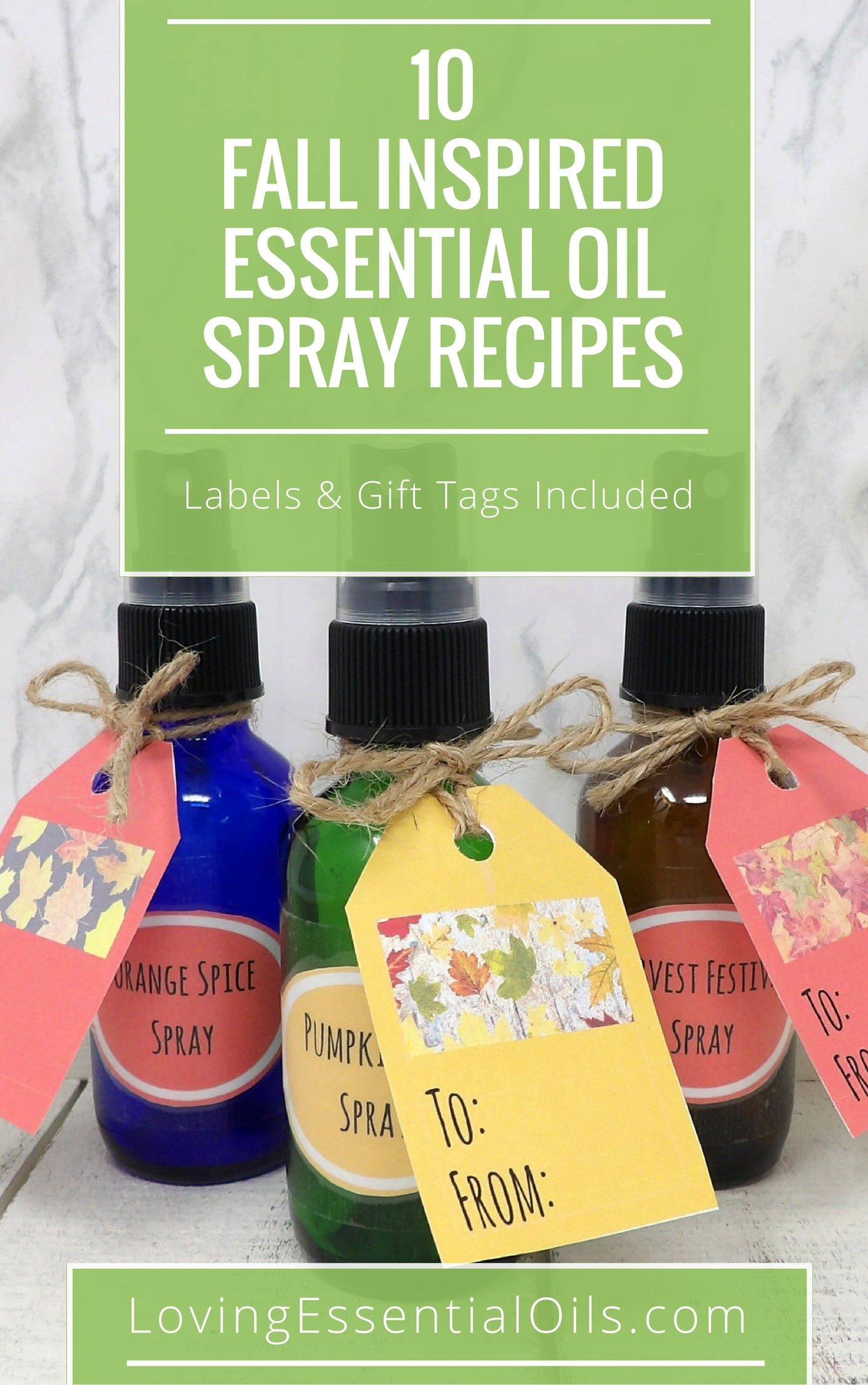 Fall Inspired {Free Printable} Essential Oil Spray Recipes Guide by Loving Essential Oils