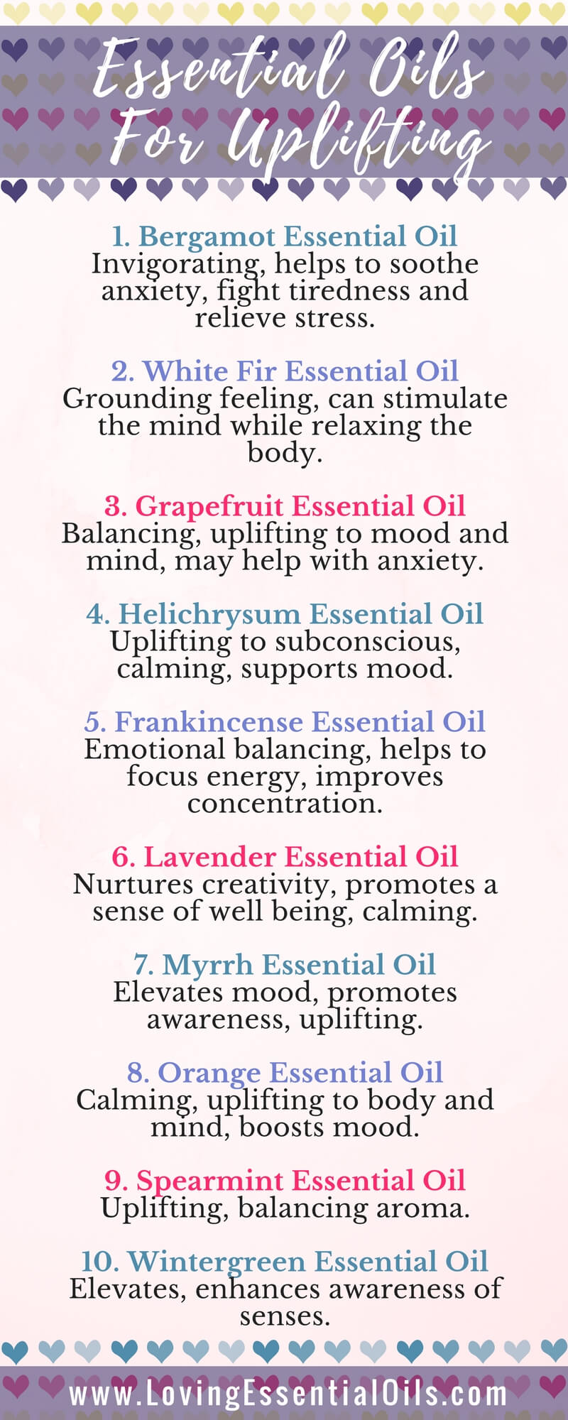 Top 10 Uplifting Essential Oils With Diffuser Blends