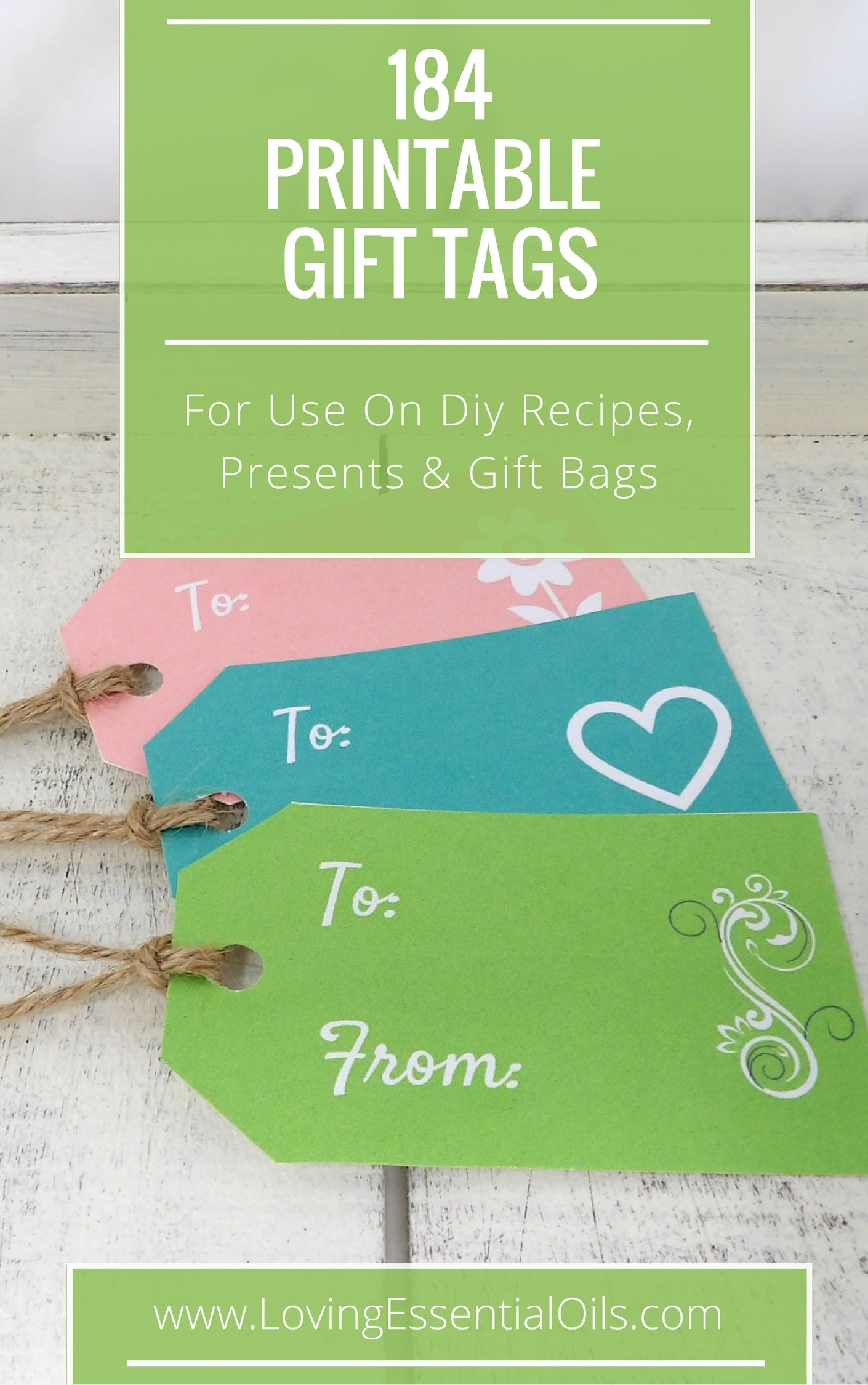 184 free printable blank gift tags for diy recipes presents free printable gift tags by loving essential oils negle Images