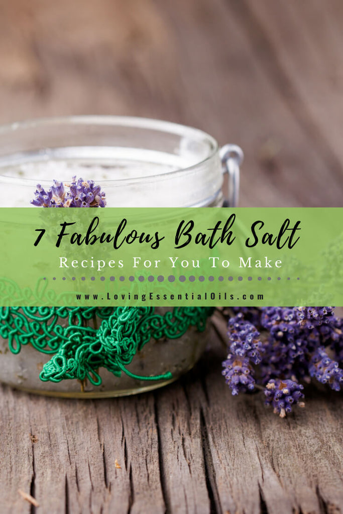 bath salt recipes with essential oils
