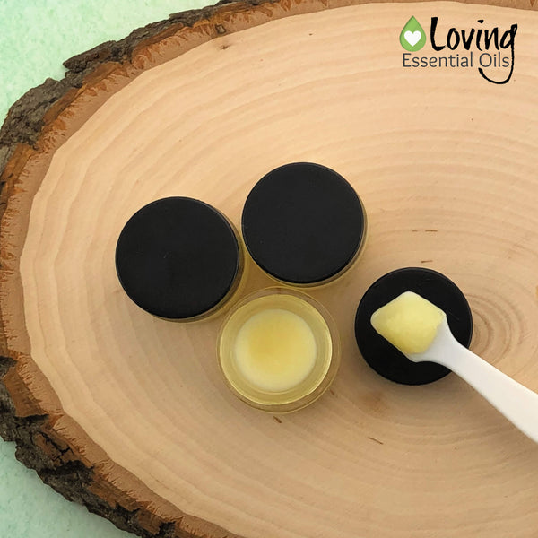 Beeswax Free Lip Balm with Grapefruit Oil - Vegan Friendly by Loving Essential Oils | Easy & simple lip balm recipe with only 3 ingredients