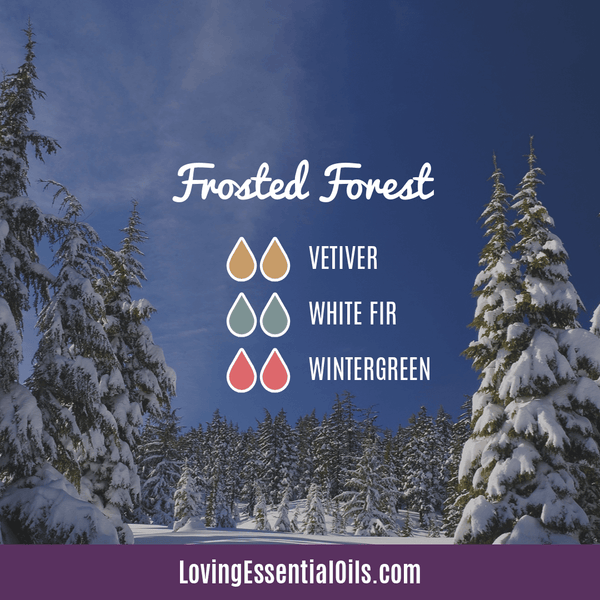 Best Winter Essential Oils - frosted forest