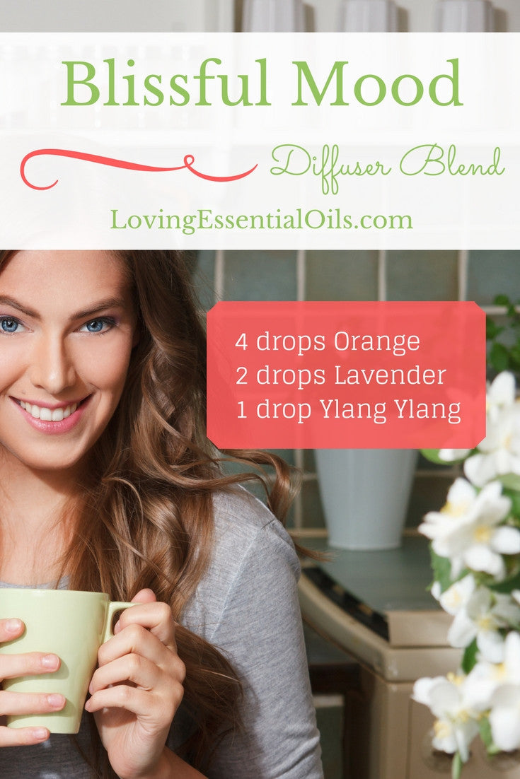 Blissful Mood Essential Oil Diffuser Blend Orange Lavender Ylang Ylang