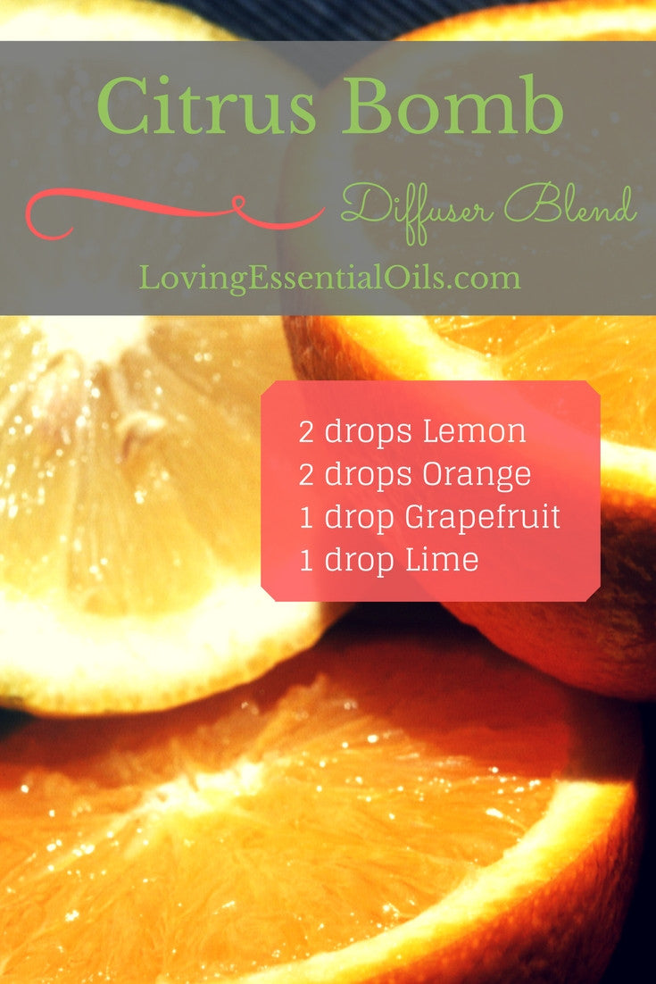 Citrus Bomb Essential Oil Diffuser Blend Grapefruit Orange Lemon Lime