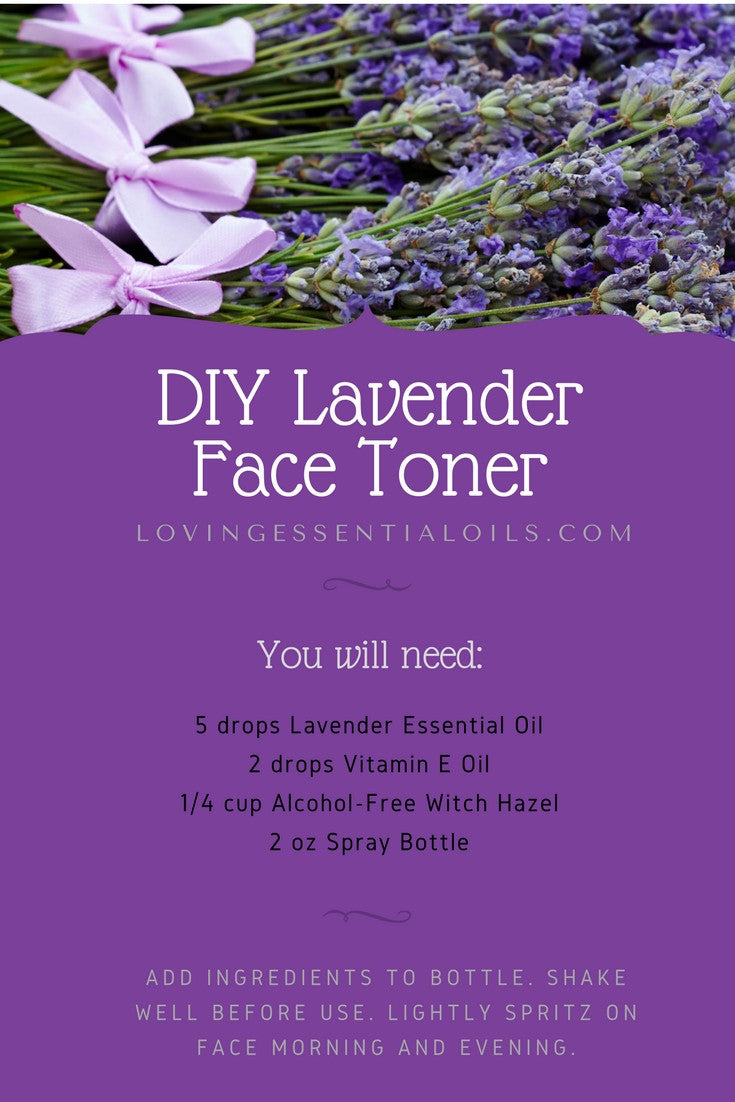 Diy Lavender Face Toner Recipe Homemade Essential Oil Spray